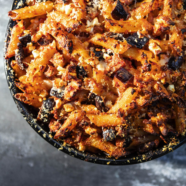 Image of Eggplant & Olive Baked Penne with Feta