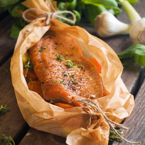 Image of Salmon and Spring Vegetable Bake