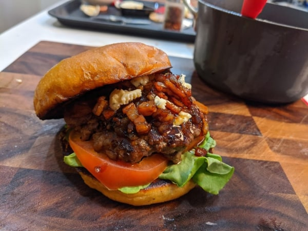 Image of Bacon Jam & Blue Cheese Burger