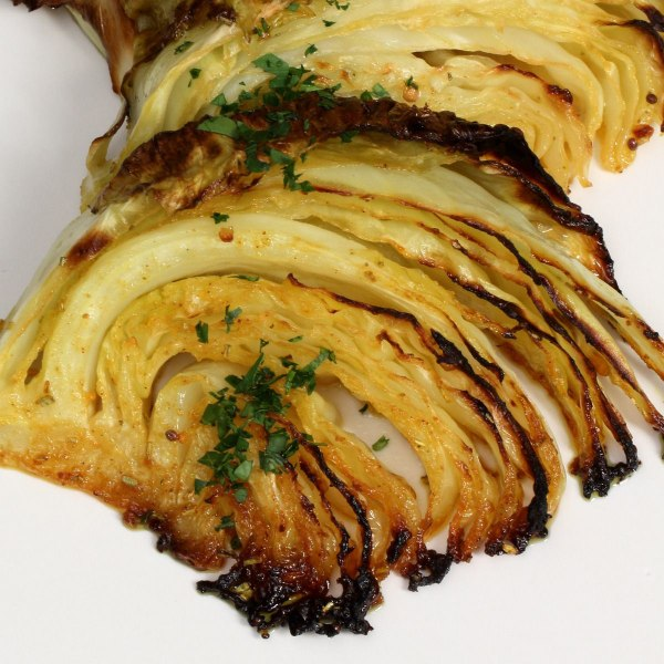 Image of Roasted Cabbage with Mustard Seasoning
