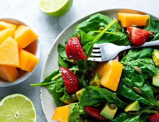 Image ofTuscan Melon, Strawberry & Avocado Salad
