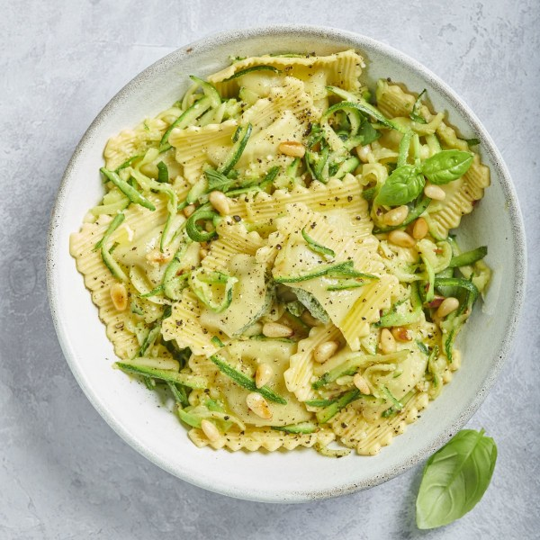 Image ofSpinach & Ricotta Ravioli with Courgettes & Lemon