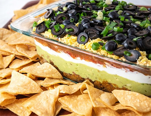 Image ofAlmost Meaty 7 Layer Dip