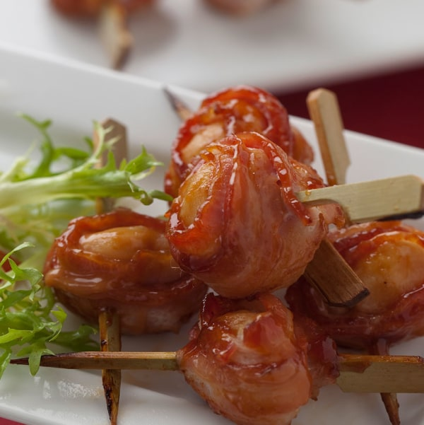 Image of Bacon Wrapped Water Chestnuts
