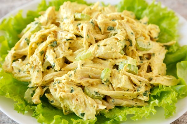 Image of Keto Curry Turkey Salad