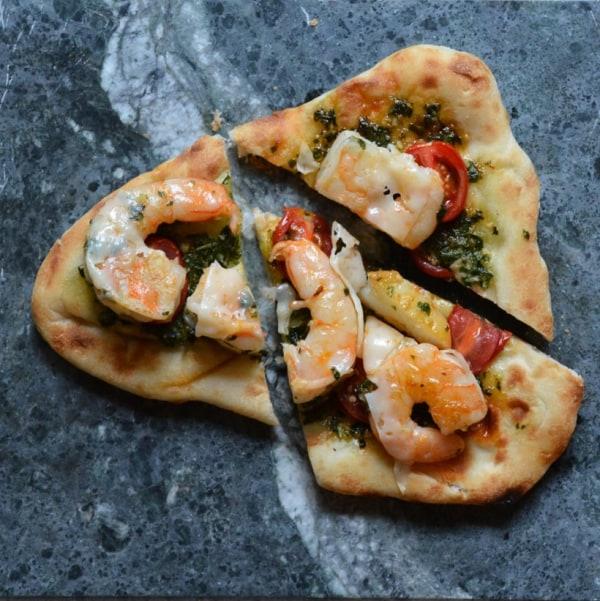 Image of Shrimp Pesto Naan Pizza