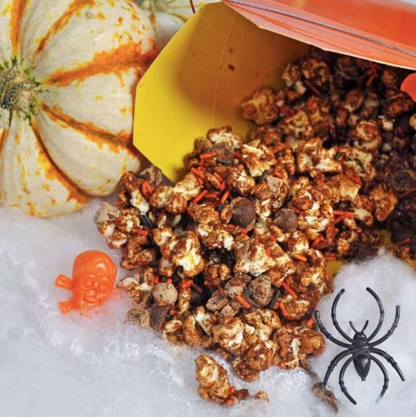 Image of Vegan Chocolate Halloween Popcorn