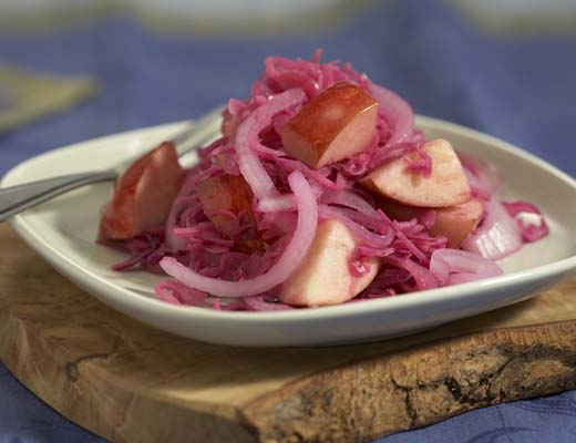 Image ofApple and Red Cabbage