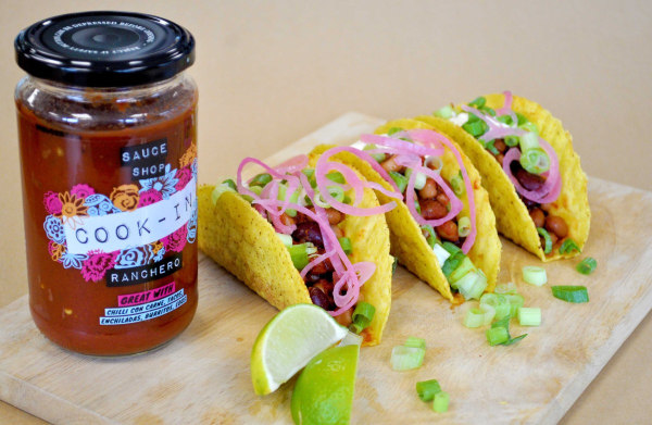 Image of Bean Chilli Tacos with Ranchero Cook-In Sauce