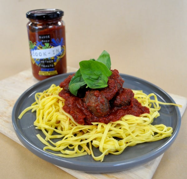 Image of Spaghetti and Meatballs with Mother Tomato Cook-In Sauce