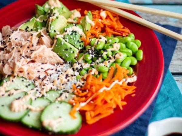 Image of Salmon Sushi Bowls