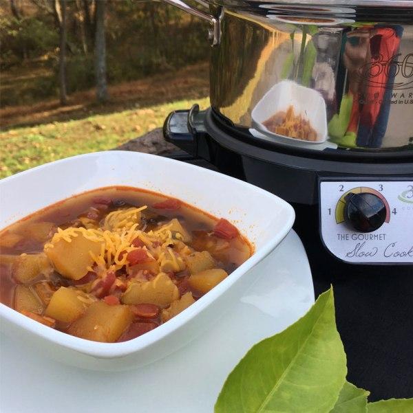 Image of Black Bean Acorn Squash Vegetarian Chili