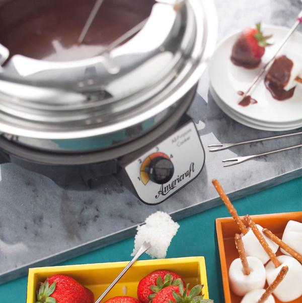 Image of Chocolate Fondue with Orange Essence