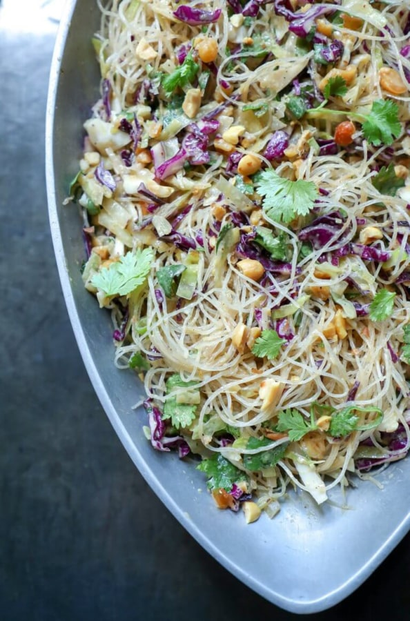 Image of Asian Noodle Salad with Peanut Sauce
