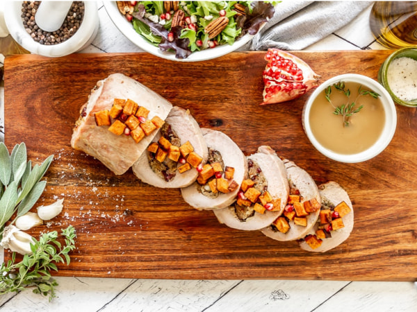 Image of Thanksgiving Pork Loin with Roasted Sweet Potatoes