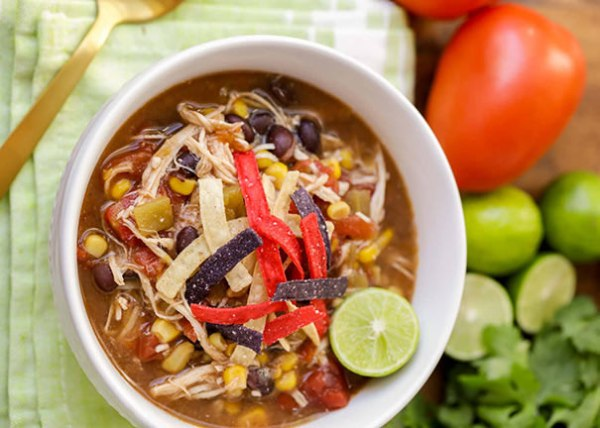 Image of Slow Cooker Chicken Tortilla Soup