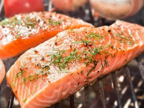 Image of Grilled Garlic Dijon Herb Salmon