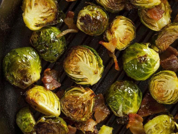 Image of Brussels Sprouts with Turkey Bacon