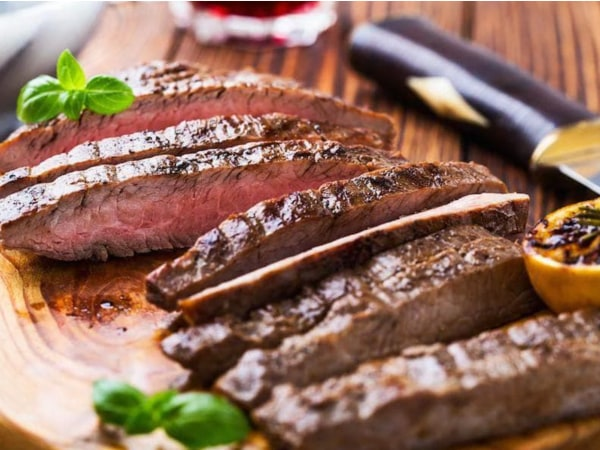 Image of Tuscan Flank Steak & Caprese Salad