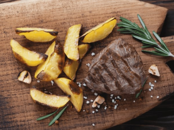 Image of Organic Grass-Fed Filet Mignon with Lemon-Herb Butter