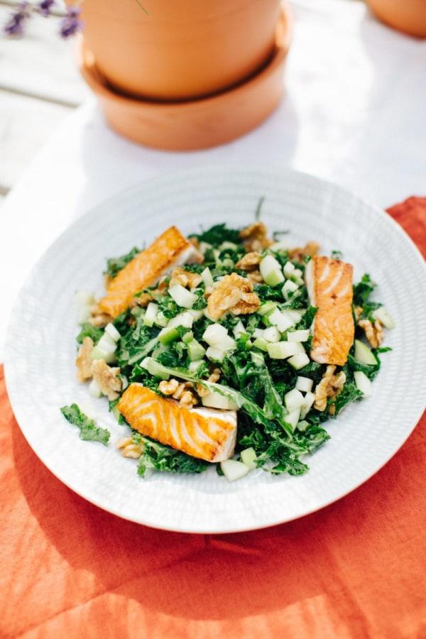 Image ofSalmon with Kale Apple Walnut Salad