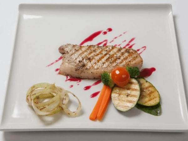 Image of Grilled Boneless Pork Chops with Cranberry-Lemon Thyme Chutney