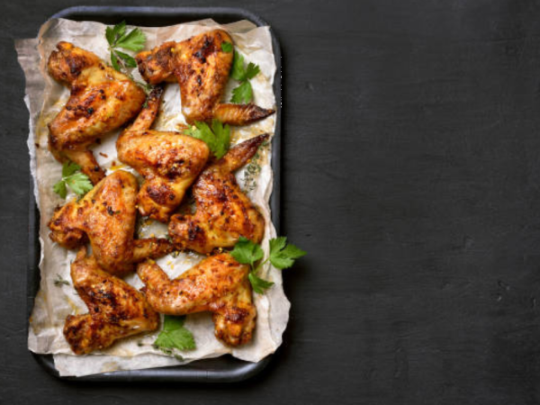 Image of Grilled Buffalo Wings with Romaine Ranch and Blue Cheese Dip