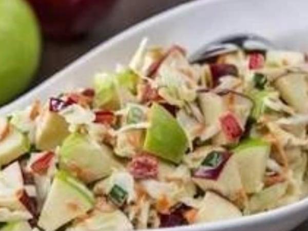 Image of Salmon Mango Lettuce Tacos & Waldorf Slaw