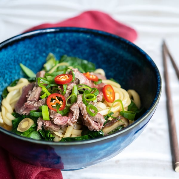 Image ofSHITAKE GINGER BEEF NOODLES