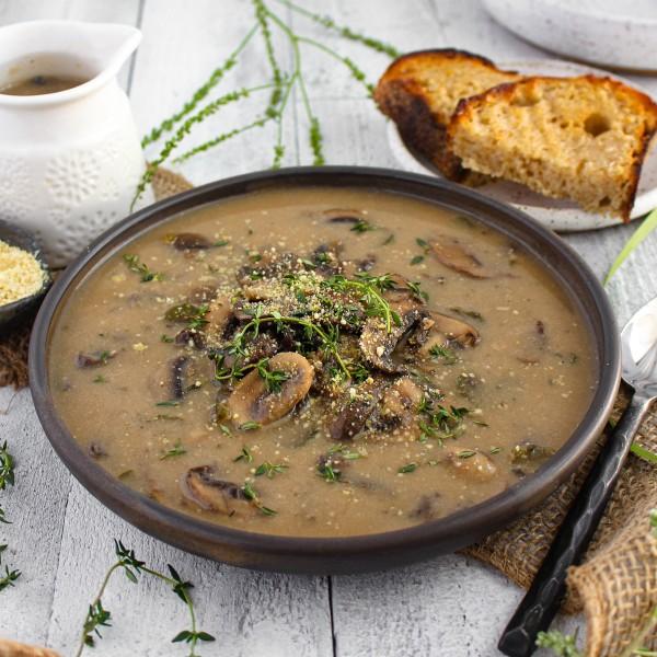 Image ofVegan Cream of Mushroom Soup