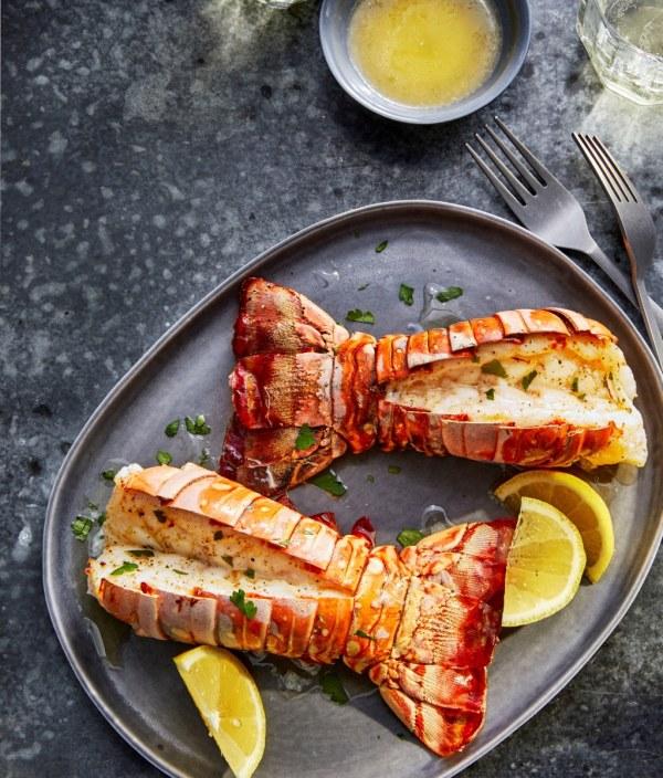 Image ofAir Fryer Lobster Tails with Lemon-Garlic Butter