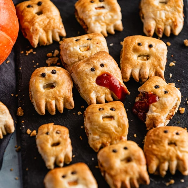 Image of Spooky Plant-Based Sausage Rolls