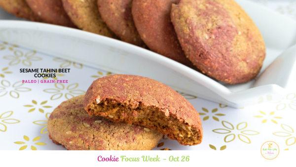 Image of Sesame Tahini Beet Cookies (Paleo Grain-Free)