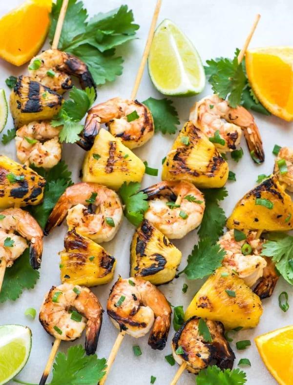 Image ofGrilled Pineapple Shrimp Kabobs