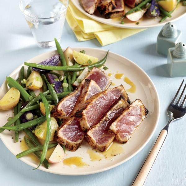 Image ofMaple and Mustard Seared Tuna Steaks