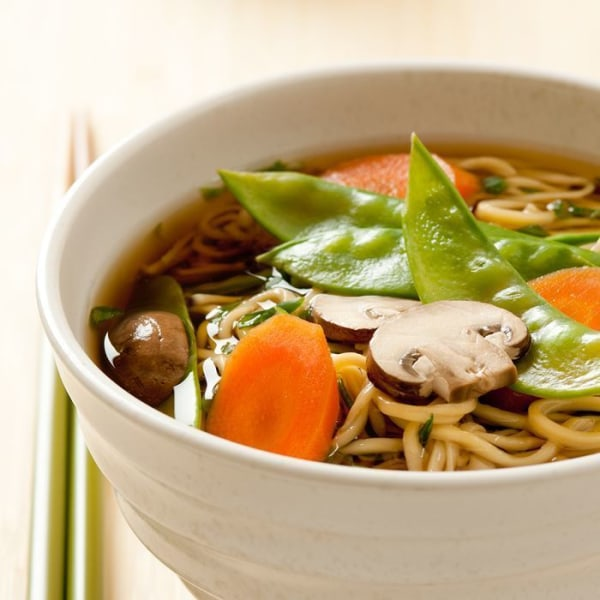 Image of Asian Noodle Soup with Vegetables