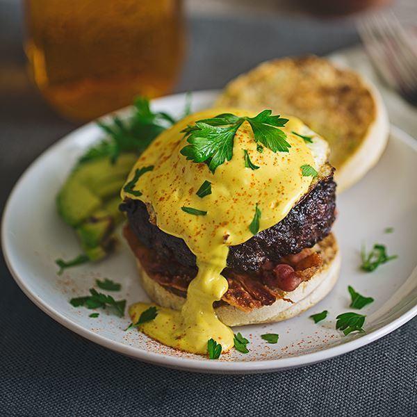 Image of Eggs Benedict Burger