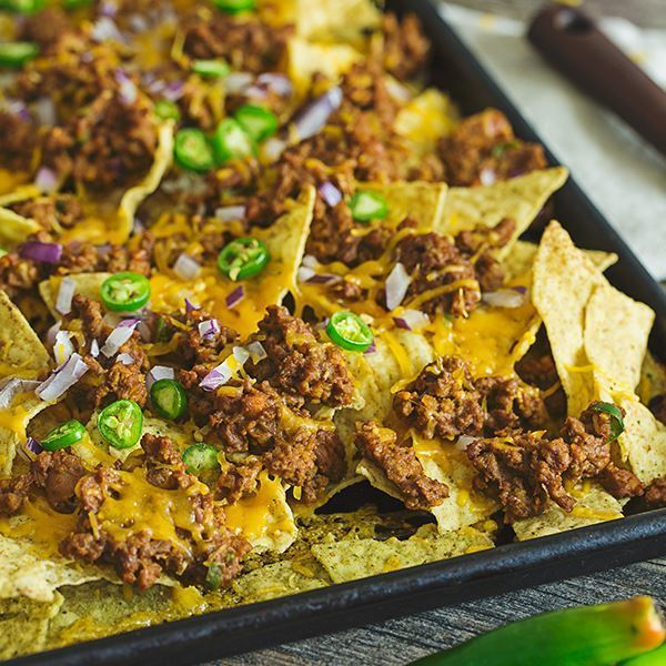 Image of Ground Beef Cheesy Nachos