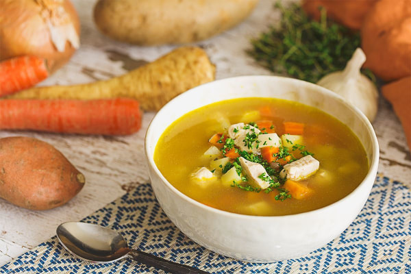 Image of Chicken Soup with Winter Vegetables