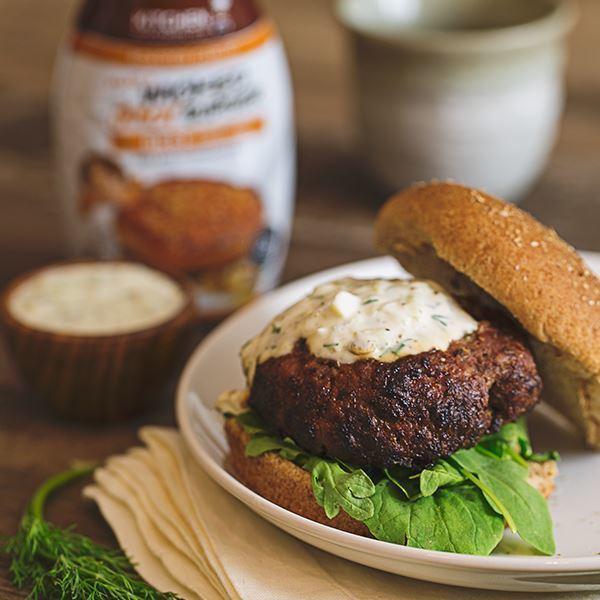 Image of Lamb Burger with Tzatziki Sauce