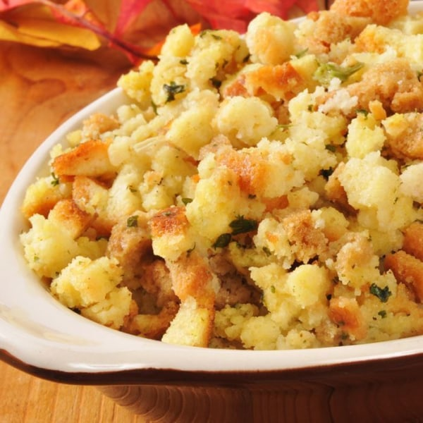 Image of Cornbread Apple Stuffing with Bacon