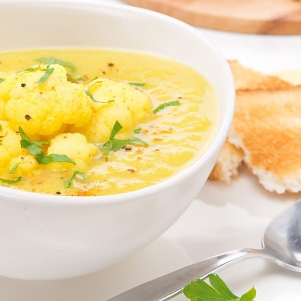 Image of Curried Cauliflower Soup with Beans