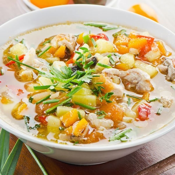 Image ofSimple Chicken Vegetable Soup Slow-Cooker