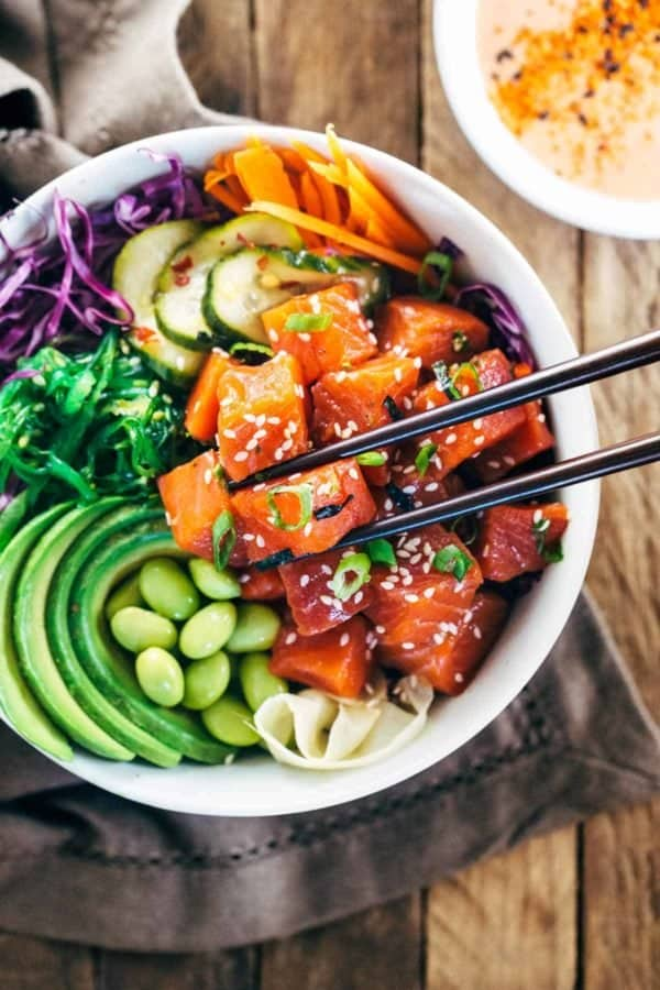 Image ofSpicy Salmon Poke Bowls