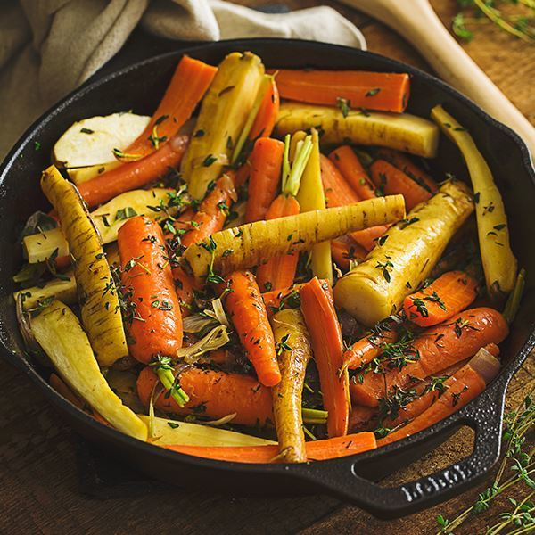 Image of Braised Carrots and Parsnips with Herbs.