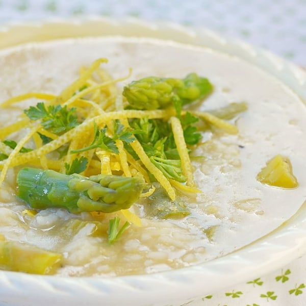 Image of Lemon Soup with Asparagus and Barley