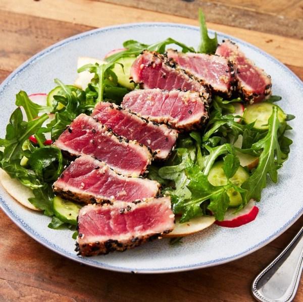 Image ofSeared Ahi Tuna & Arugula Pear Salad