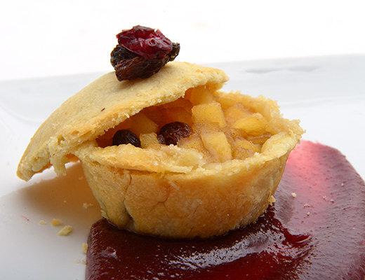 Image ofApple Raisin Pie with Cranberry/Orange Wine Sauce
