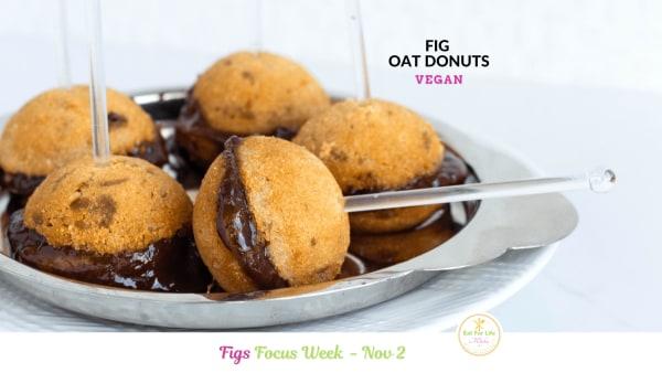 Image of Fig Oat Mini Donuts (Vegan)
