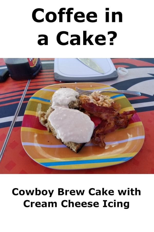 Image of Cowboy Brew Cake with Cream Cheese Icing